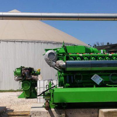9.Particolare motore su impianto di cogenerazione in container, potenza 2x1164kW