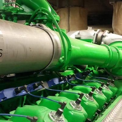 Impianto di cogenerazione completo in container, potenza 249kW