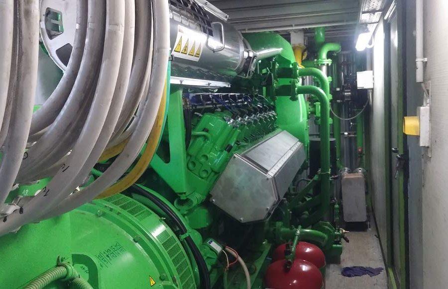 Lavori di sostituzione motore su impianto a biogas, potenza 999kW