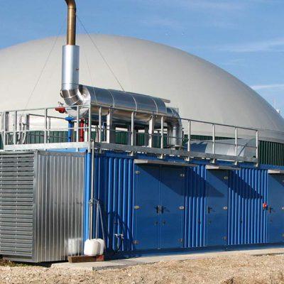 Particolare motore su impianto di cogenerazione in sala macchine, potenza 2x3300kW